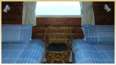 The beds in the second bedroom